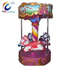 Trade assurance WD-A17 Rotary HORSE rotating amusement park rides carousel in coin operated games
