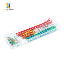 140 Pcs U Shape Shield Solderless Breadboard Jumper Cable Wire Dupont Cable With Assortment Box