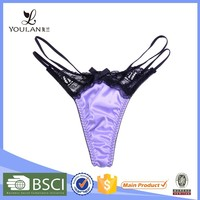 New Design Breathable Hot Girl Black and Purple Undergarment