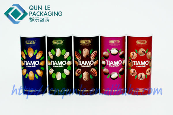 Hot Sale Four Color Printed Empty Paper Can for Packing Food