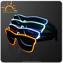 manufacture old fashion glow el wire eyeglasses party eyewear