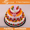 High quality hot sale cheap bakery window display beautiful three-tier fruit birthday cake model fake cake