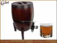 15L wooden barrels draft beer keg with plastic tap