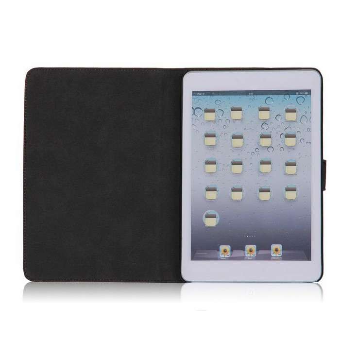 vintage style frosted pu leather case for ipad mini