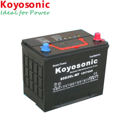 2-Year Warranty 12V 75AH Korean Car Battery Auto Battery Starter Battery