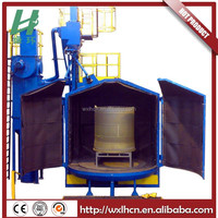 Automatic Q35 series rotary table shot blasting machine with no foundation