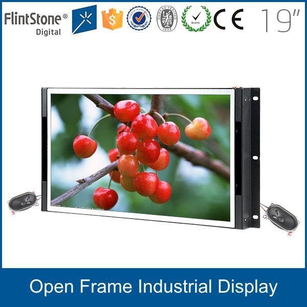 FlintStone 2015 new 19 inch frameless industrial display, open frame tft lcd monitor