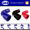 soft silicone rubber tubing/ colored polyester fabric elbow 90 degree radiator silicone hose manufacturer