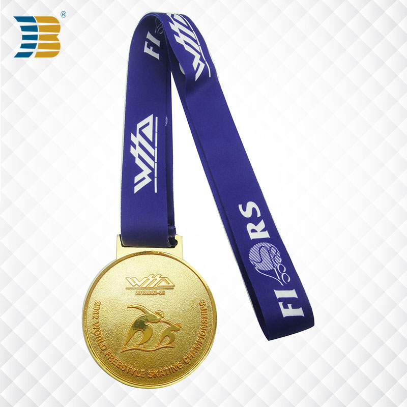 custom gold sports award medal for free style skating