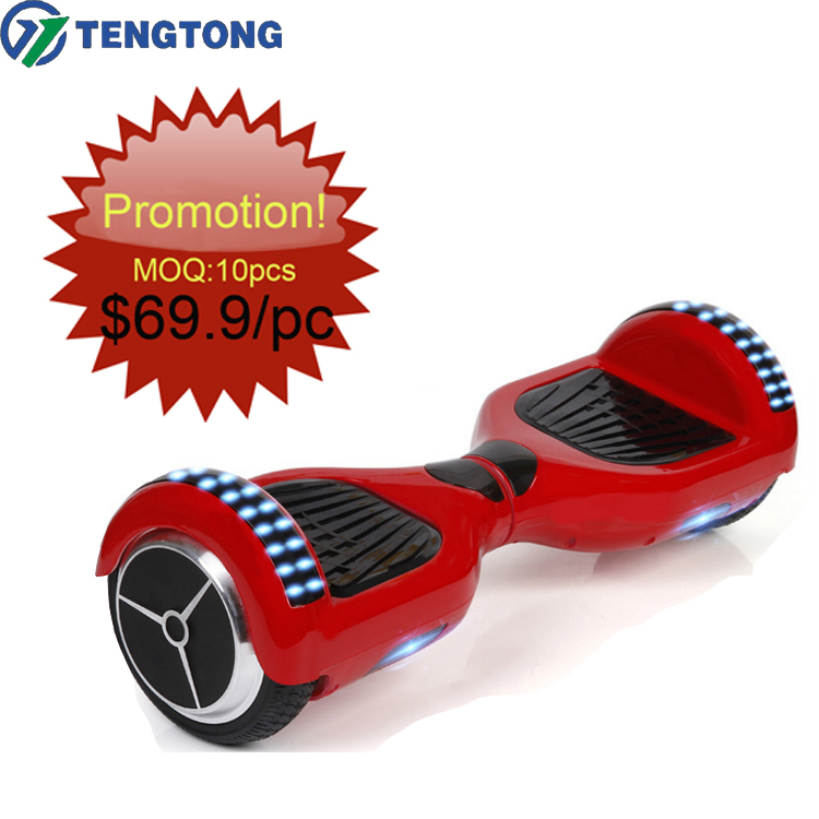 Promotion!2017 newest self balancing scooter kids 2 wheel electric Hoverboard with bluetooth and wheelS LED with gift for free