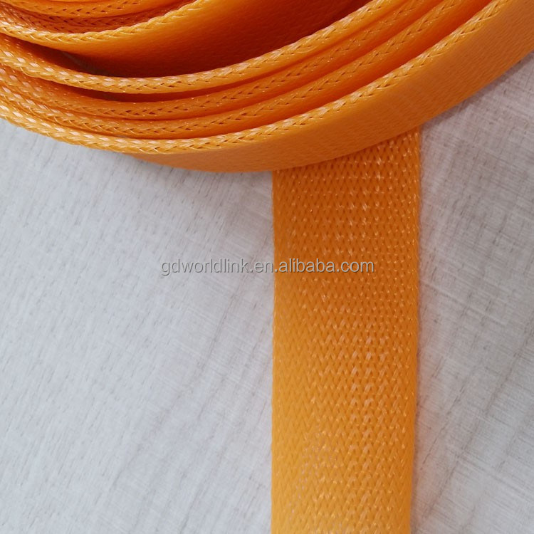 Wholesale Plastic PET braided expandable sleeve for wire harness