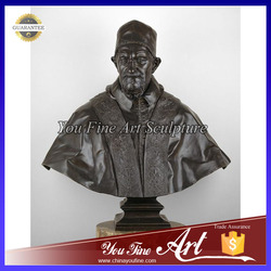 Life Size Bronze Pope Bust Statue
