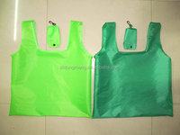 Promotion T shirt Nylon foldable shopping tote bag