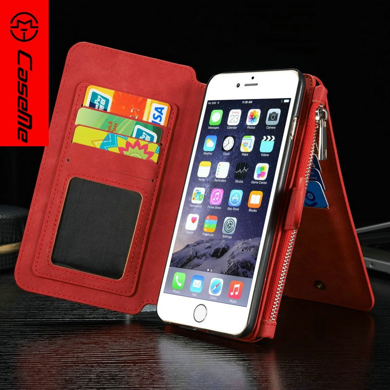 2015 Genuine leather wallet pouch protective case cell phone for iphone 6