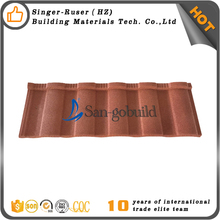 Black/Red/Brick/Blue/Green/Brown Colored Stone Coated Steel Roofing Tile In Shandong