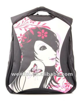 Hot!!! fashion lady laptop bags with printing