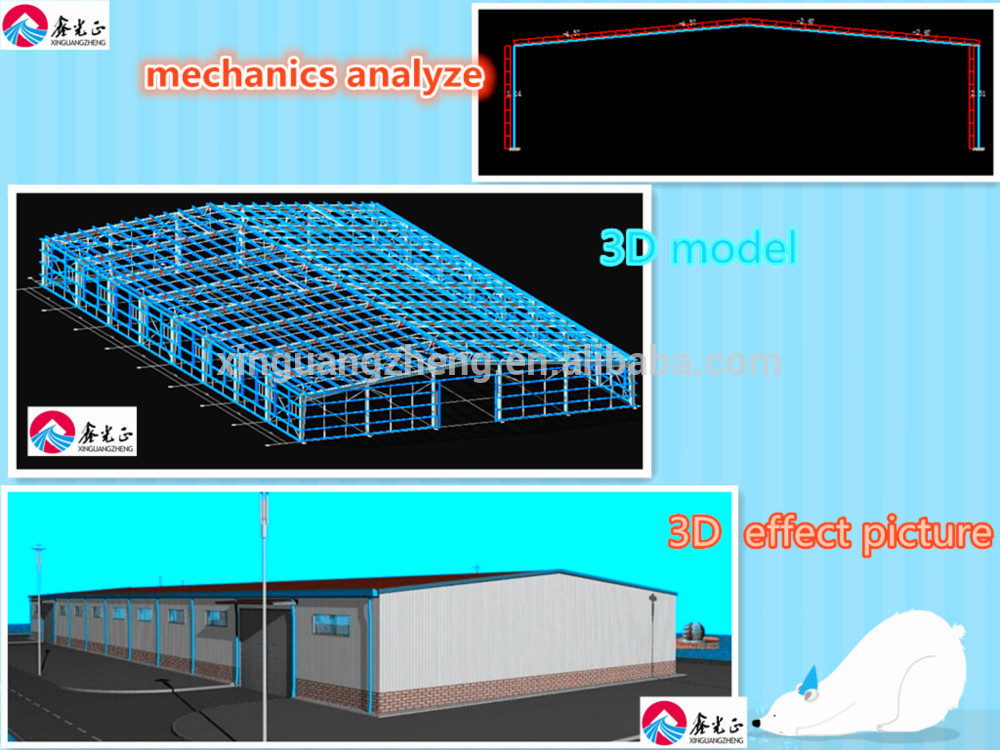 Chinese Prefabricated Light Steel Structure Workshop