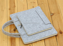 Economical wool felt bag for notebook computer felt tote bag small felt laptop bag