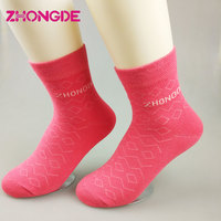 Mid-calf cotton quality cheap wholesale custom embroidered socks low moq