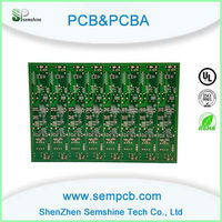 Black LCD Display TV Circuit Board factory Hasl monitor pcb