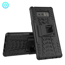 Heavy duty case for Samsung Galaxy Note 8 case Soft TPU Hard PC 2 in 1 Shockproof Kickstand phone cover for Note 8