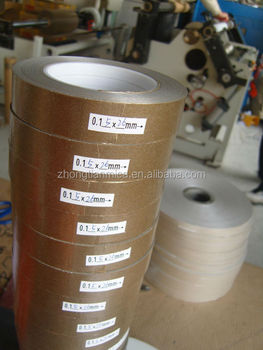 Calcined mica tape for fire resistant cable in 0.1-0.14 thickness 50mm width 500m length