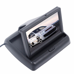"800 X480 Pixel High Definition 4.3"" tft lcd car foldable rearview monitor with"