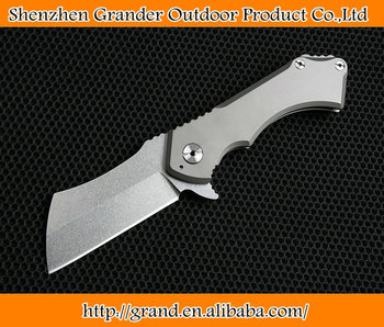 Stone wash Surface Tough guy Folding Pocket Knife Hunting Tools Tactical Survival Knives D2 Knife 7210