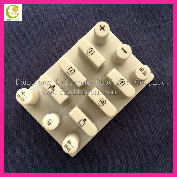 remote button rubber key pad, Silicone keypad with conductive pill, OEM silicone key button