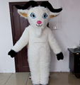 Good quality white fur goat mascot costume/sheep mascot costume for sale