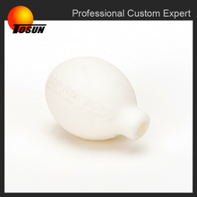 hotsale oem made in China white color molded rubber ball with hole, customize rubber component, silicone rubber product