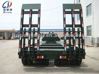 3 lines 6 axles Heavy duty 150ton flat bed ladder trailer