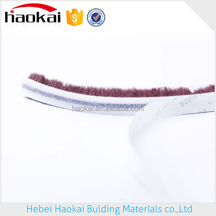 Woven pile weatherstripping 6.8*9 groove weatherstripping moulded door skin