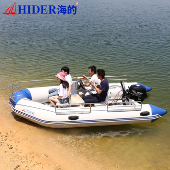 Hider Large 8 Person Pvc Inflatable Boat with Stainless Steel Guard Bar