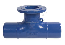 BS EN545 potable Water BS EN598 sewage wastewater piping fittings Ductile Cast Iron Double spigot single branch pipe tee
