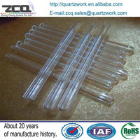 High Quality Recycling Quartz Test Tube One End Closing Tube