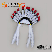 China supplier Manufacture Hot selling white feather hair accessories online