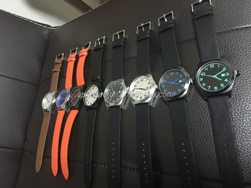 2016 Assisi hot selling custom your brand watch with genuine leather strap
