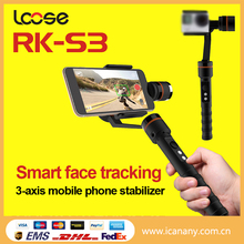 New released mobile phone 3-axis video gimbal camera stabilizer RK-S3 cheap stabilizer under $1k