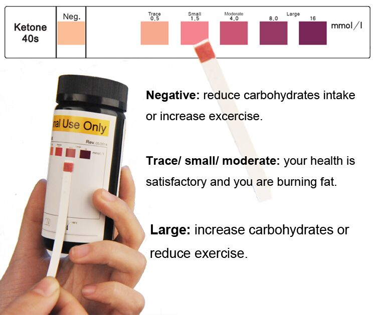 Perfect for Ketogenic Diet and Diabetics - Precise Ketone Measurement and Supports Ketone Adaptation, 100 Strips