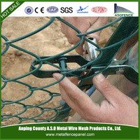 diamond galvanized Residential Chain Link Fencing
