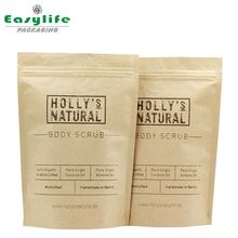 Hottest China Manufacturer round bottom kraft paper pouch for body scrub