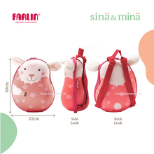 Farlin Sina & Mina cute kids cartoon animal backpack Marshmallow Sheep children backpacks
