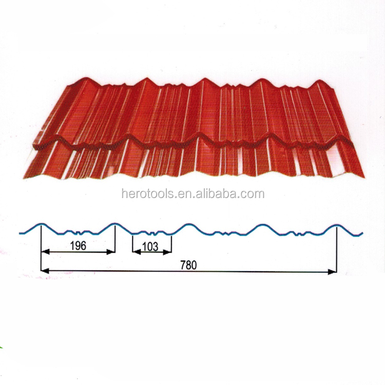 PPGI color coated corrugated roofing sheet