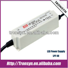 Meanwell constant voltage led driver 24v LPF-40 40W Outdoor Support Dimmable
