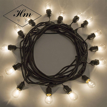 Superior Quality Christmas Lights Outdoor Weatherproof Commercial Grade Led String Light With Hanging Sockets Edison Incandescen