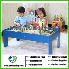 2016 Wooden toy roller coaster track 90 piece gaming of tables wooden blocks wooden educational toy baby gift