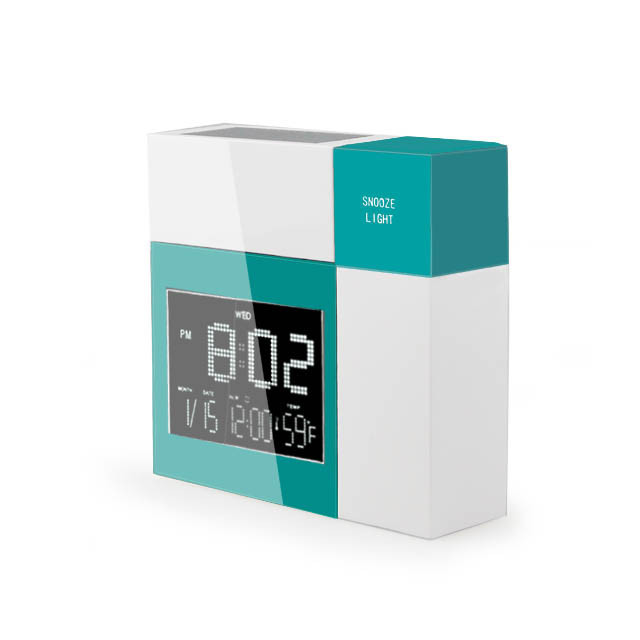 Hairong 2015 New Product MD-8330 Voice Response Solar Power Digital Clock Desktop clock Alarm Clock