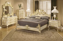 Italian Palace Wooden Carved Angel King/Queen Bed, Luxury Classic Home Bedroom Furniture