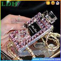 Bling Luxury Diamond Perfume Bottle TPU Cover Case For iphone 4s 5 5c 5s 6 6s plus For Samsung galaxy note 4 3 S6 edge S5 S4 S3